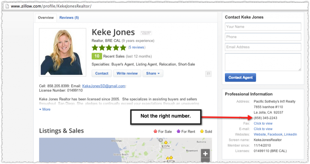 Zillow Profile for Keke Jones