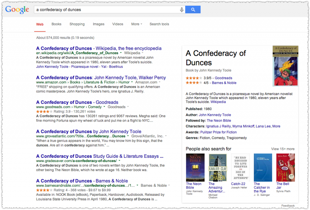 Confederacy of Dunes Google Knowledge Panel