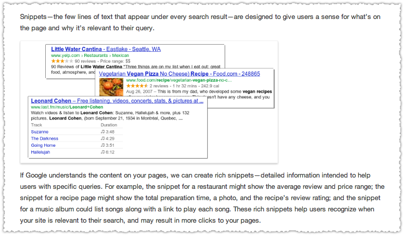 Google's Rich Snippets Examples