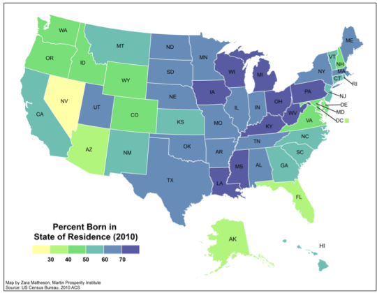 US Geographic Mobility Graphic