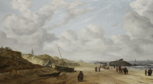 Beached Whale Revealed In Painting