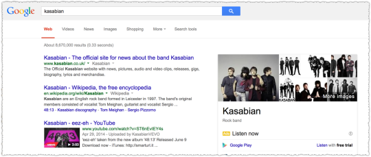 Kasabian Search Results