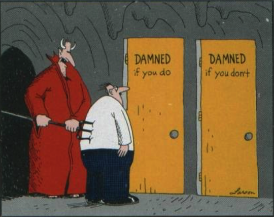 Gary Larson False Choice Cartoon