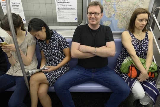 Manspreading Example