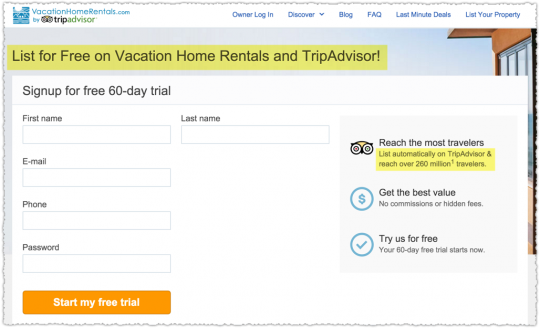 Syndication Selling Point on Vacation Home Rentals