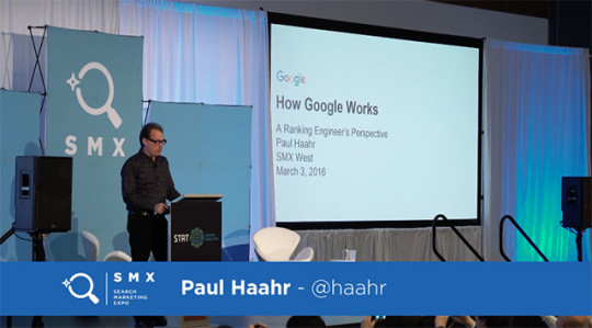 Paul Haahr Speaking at SMX West 2016