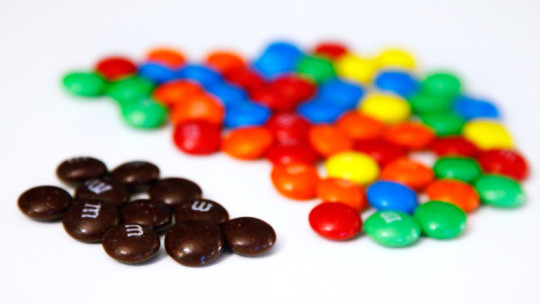 Separated M&Ms
