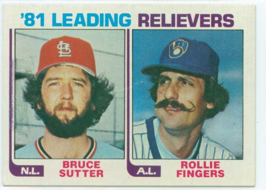 Bruce Sutter and Rollie Fingers Baseball Card
