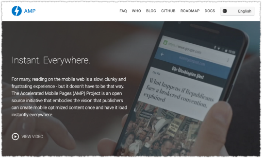 Accelerated Mobile Pages Project